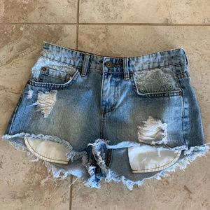 Distressed Billabong Shorts